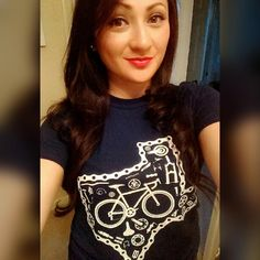 Martha reppin' our navy blue Texas shirt. #spinncycles #texascycling #texas #cyclingaddiction #cycling