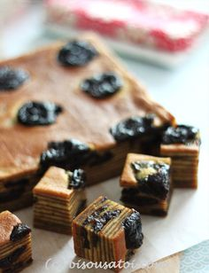 Bisous À Toi: Prune Layer Cake Layer Cake Recipes, Layer Cakes, Prune Recipes, Prune Cake, Resep Cake, Asian Cake, Brownie Cake, Brownies, Traditional Cakes