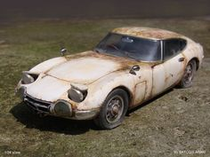 by Satoshi Araki Japanese Domestic Market, Vintage Cars, Antique Cars, Junkyard Cars, Type E, Toyota 2000gt, Abandoned Cars, Jdm Cars, Concept Cars
