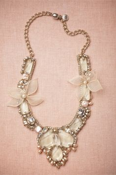 Plumeria Blossoms Necklace in Shoes & Accessories Jewelry at BHLDN