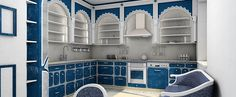 morroccan style kitchen | kitchen country style with moroccan motive Moroccan Kitchen Design. Just make it smaller! :)