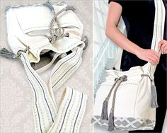 Cross-Body Belted Bag with Decorative Stitching | Sew4Home