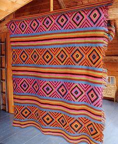 Inspiration~ Navajo Afghan (Crochet)