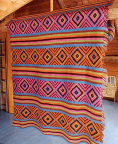 Craftdrawer Crafts: Navajo Afghan Crochet Pattern - Download