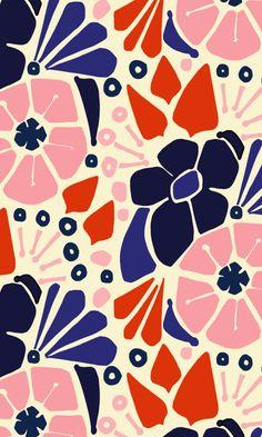 Amy Reber Designs #textiledesign #pattern #floral #interirordesign #fabric…