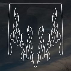 Ghost Flames Graphics   Sticker shown is white on a dark tinted window