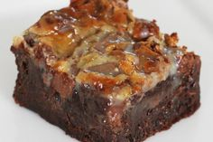 Karamelliseret brownie