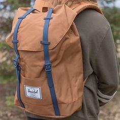 The  herschelsupply Retreat backpack in Camel   Navy  herschel 📷   droppvisual sam Youth Shelter 7d8687bda3672