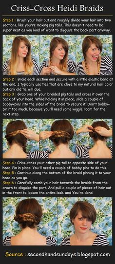 "Beauty Tutorials: Hair tutorials -- another ""behind the grill"" hairstyle to wear at work."