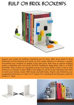 Build your own Lego bookends! A little over $20 and a lot of fun!