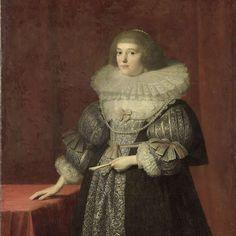Portret van Ursula (1594-1657), gravin van Solms-Braunfels, anoniem, ca. 1630 - Rijksmuseum