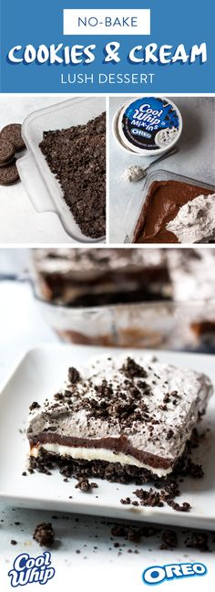 This super easy NO-BAKE treat is made with COOL WHIP Mix-Ins with OREO® Cookies Creamy, crunchy, sweet -this lush cake has it all!