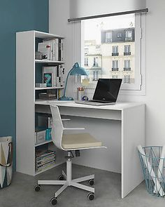 Modern White Corner Computer Study Desk Office Table Furniture