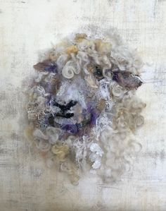 Sheep - Art In Textiles Sheep Paintings, Animal Paintings, Needle Felted Animals, Felt Animals, Baby Animals, Pc Drawing, Textiles Sketchbook, Sheep Art, Felt Pictures
