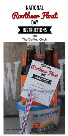 Aug. 6 in National Rootbeer Float day.  Pinning so I can take this to friends next year! How To Make a Rootbeer Float Printable