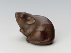 Rat netsuke. Japanese Edo period early 19th century Tomokazu (Japanese)