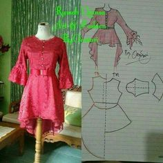 70 ideas sewing patterns blouse design for 2019 Frock Patterns, Designer Blouse Patterns, Dress Sewing Patterns, Clothing Patterns, Kurti Neck Designs, Blouse Designs, Sewing Clothes Women, Clothes For Women, Model Kebaya