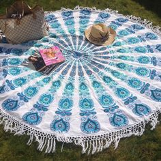 Love this! Want this! The mandala beach throw Are Now available on Pre-order !! Be the first To put your hands on the most coveted piece of This summer #beachthrow
