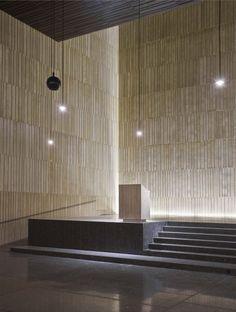Striated concrete walls - Iglesia San Jorge, Pamplona, Navarre, Spain | Tabuenca & Leache © José Manuel Cutillas.