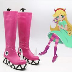 the Forces of Evil Princess Star Butterfly Magic Cosplay Shoes Boots Halloween Carnival Party Cosplay >> Click picture for details << Cosplay Boots, Cosplay Diy, Cosplay Outfits, Cosplay Costumes, Star Costume, Star Butterfly Costume, Star Butterfly Outfits, Halloween Carnival, Funny Halloween Costumes