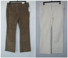 Liz Claiborne Pants Women's Boot Cut Corduroy Pants Sizes 10, 12, 14, 16 NEW #LizClaiborne #Corduroys 19.99