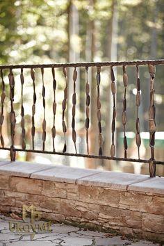 Schmiedeeisernes Terrassengeländer