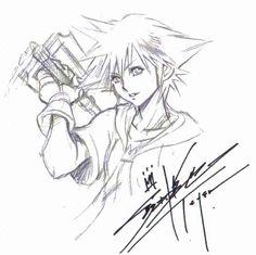 Sora and signed by Tetsuya Nomura