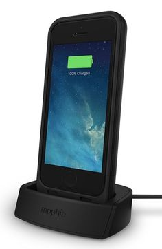 Mophie 'juice pack plus' iPhone 5/5s charging case & dock available at #Nordstrom