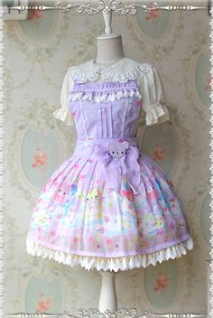 Infanta Sleeping Bear Pinafore Dress