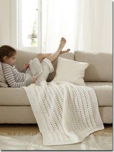 Luftige Häkelplaiddecke - New Ideas Knitted Blankets, Merino Wool Blanket, Crochet Home, Knit Crochet, Knitting Patterns, Crochet Patterns, Animals For Kids, Decoration, Free Pattern