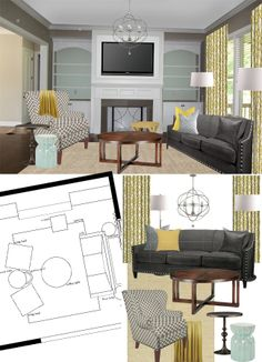 Blue & Yellow Client Project Design Board