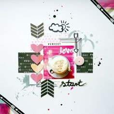 #papercraft #scrapbook #layout.  Perfect start by Anke Kramer at @Studio_Calico
