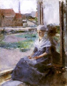 Bretonka, Olga Boznańska. Polish (1865 - 1940)