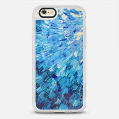 Sea Scales in Indigo - New Standard iPhone 6/6S #Protective Case in Clear and Clear by @ebiemporium #phonecase   @casetify