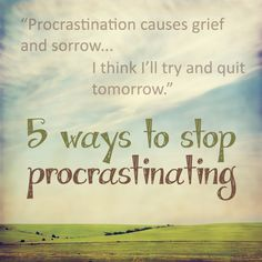 Overcoming Procrastination |