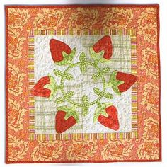"Strawberry quilt by Pat Sloan in ""Pat Sloan's Favorite Techniques"" book"