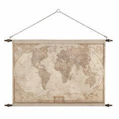Arredo da parete mappa del mondo 117 x 129 cm EXPLORATEUR