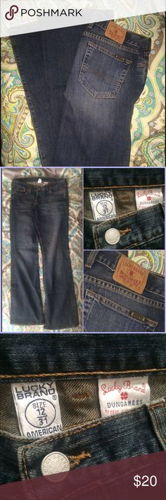 Lucky Brand Dungarees Dream Jean Lucky Brand size 12/31 American Made. 96% Cotton 4% Lyrca. Like New Condition. Lucky Brand Jeans