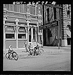 Galveston, Texas. Newspaper delivery boys. Vachon, John, 1914-1975, photographer.    CREATED/PUBLISHED  1943 May. Newspaper Delivery, Galveston Texas, Library Of Congress, Bicycles, Street View, Guys, American, Photos, Pictures
