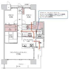 こんな間取りならお洗濯も楽しくこなせそう。 Floor Plans, Flooring, How To Plan, House, Home, Haus, Wood Flooring, House Floor Plans, Floor Plan Drawing