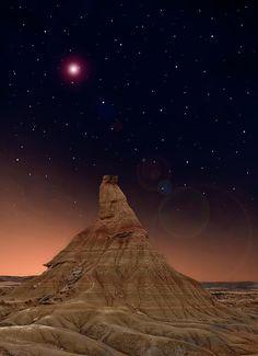 ✮ Desert at night - Pampolona, Spain - Amazing Photo!
