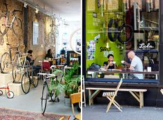 Coffee hotspot in Den Haag, The Netherlands: Lola Bikes and Coffee on the Noordeinde - urbanpixxels.com I want to go there.