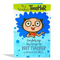 To a wonderful Teacher everybody says they have got the best teacher in the world. Teachers' Day, Best Teacher, One In A Million, Card Sizes, Good Things, Collections, Sayings, Shop, Cards