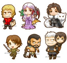 Game of Thrones Chibi's by bluemonika.deviantart.com on @deviantART