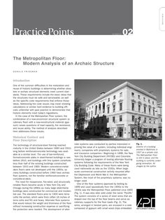 "APT Bulletin - Practice Point  No. 2 ""The Metropolitan Floor: Modern Analysis of an Archaic Structure"" By: Donald Friedman"