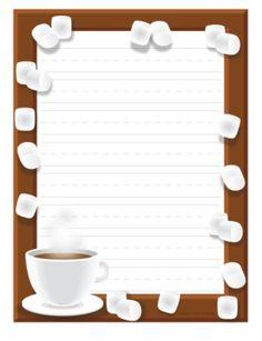 Hot Chocolate writing paper