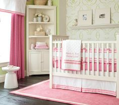 Harper Nursery Bedding Collection | Pottery Barn Kids...Trying to picture with the dark furniture.  Other colors available.