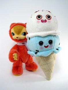 Christmas icecream plush by scrumptiousdelight, via Flickr