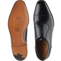 Cheaney Brackley in black calf from Herring Shoes Cheaney Shoes, Comfortable Boots, Brogues, Leather Shoes, Calves, Oxford Shoes, Dress Shoes, Brown, How To Wear