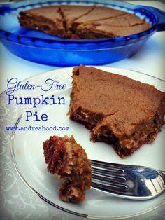 Gluten- Free Pumpkin Pie Recipe. Get more free recipes at - www.andreahood.com